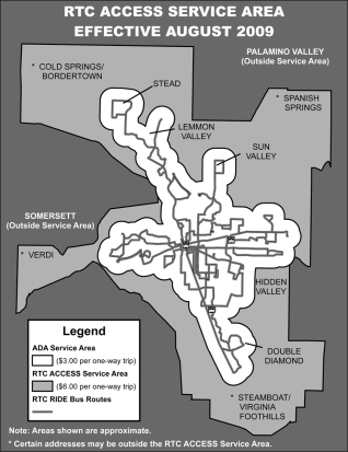 Grayscale diagram/map of RTC coverage
